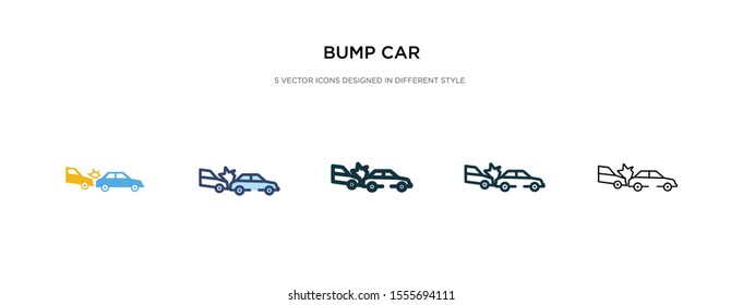 bump car icon in different style vector illustration. two colored and black bump car vector icons designed in filled, outline, line and stroke style can be used for web, mobile, ui