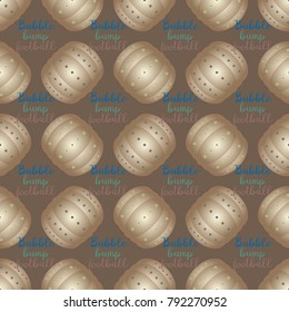 Bumper ball or bamperball football equipment seamless pattern for background.