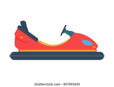 bumper car vector illustration