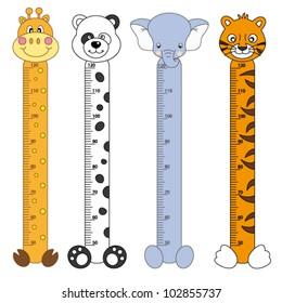Bumper children meter wall. Wildlife Stickers