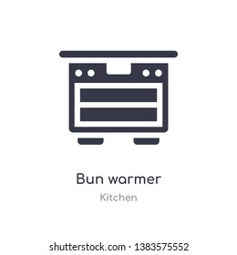 bun warmer icon. isolated bun warmer icon vector illustration from kitchen collection. editable sing symbol can be use for web site and mobile app