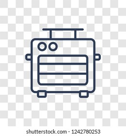 bun warmer icon. Trendy linear bun warmer logo concept on transparent background from kitchen collection