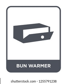 bun warmer icon vector on white background, bun warmer trendy filled icons from Kitchen collection, bun warmer simple element illustration