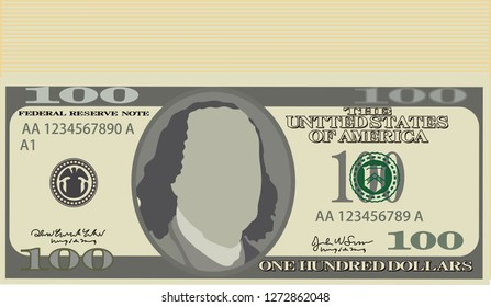 Bunch of 100 US dollar banknote