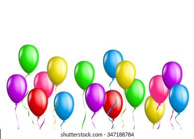 Bunch of balloons in different colors.