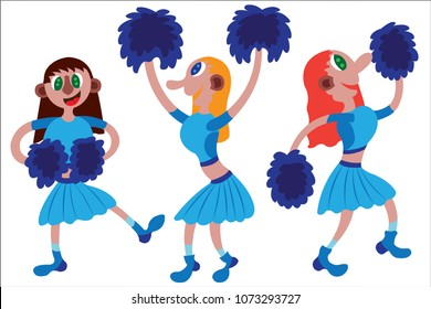 A bunch of cheerleaders ready for a game