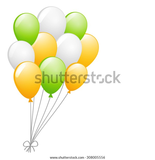 a bunch of glossy balloons