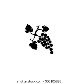 Bunch of grapes. Black simple vector icon