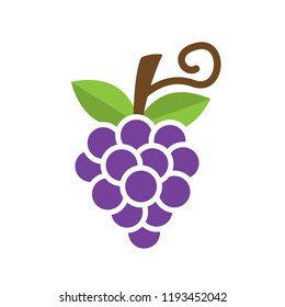 Bunch of grapes icon vector illustration in flat style