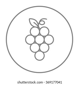 Bunch of grapes line icon.