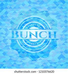 Bunch realistic sky blue emblem. Mosaic background