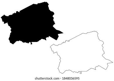 Buncombe County, North Carolina State (U.S. county, United States of America, USA, U.S., US) map vector illustration, scribble sketch Buncombe map