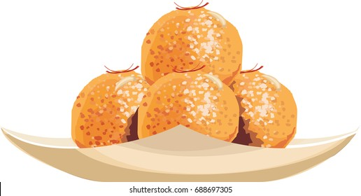 Bundi laddoo Vector