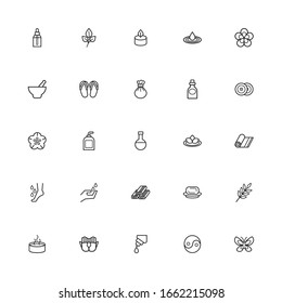 bundle of spa line style icons vector illustration design
