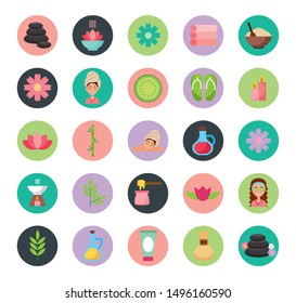 bundle of spa service set icons vector illustration design