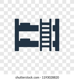 Bunk bed vector icon isolated on transparent background, Bunk bed transparency logo concept
