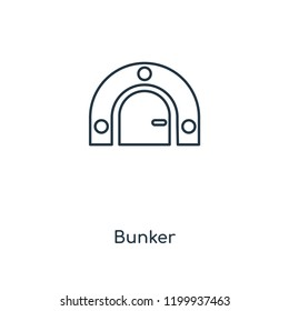 Bunker concept line icon. Linear Bunker concept outline symbol design. This simple element illustration can be used for web and mobile UI/UX.