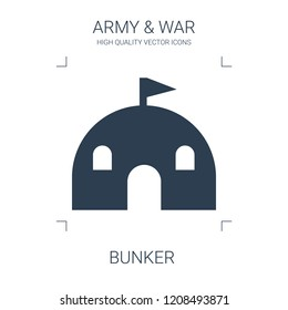 bunker icon. high quality filled bunker icon on white background. from war collection flat trendy vector bunker symbol. use for web and mobile