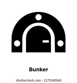 Bunker icon vector isolated on white background, logo concept of Bunker sign on transparent background, filled black symbol