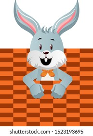 Bunny with bad texture, illustration, vector on white background.