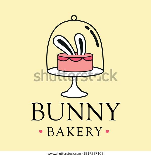 Bunny Bakery Logo Vector Icon Illustration Stock Vector