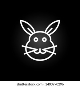bunny, Easter, rabbit neon icon. Elements of easter day set. Simple icon for websites, web design, mobile app, info graphics