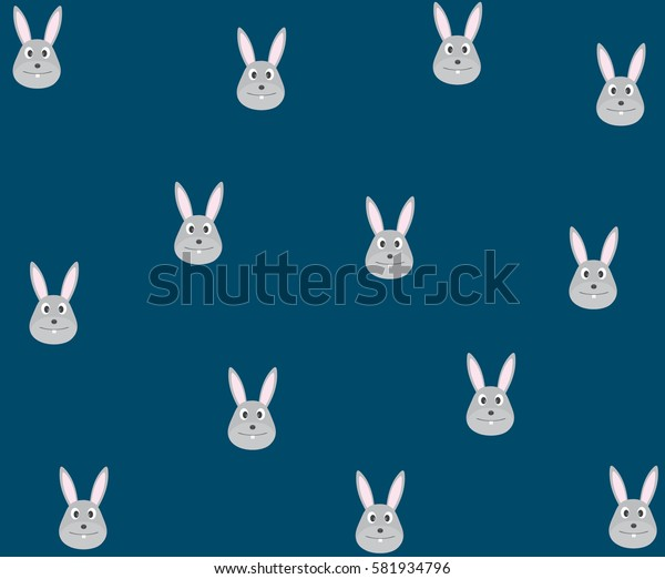 bunny pattern and background vector