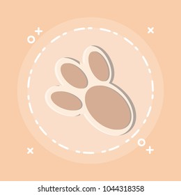 Bunny Paw Print Icon