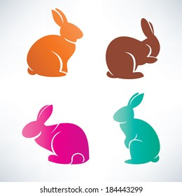 bunny silhouette vector collection