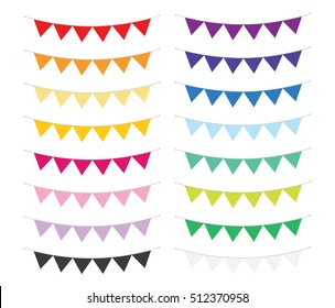 Bunting Banners in Assorted Colors