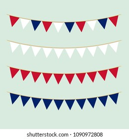 Bunting collection in British colours