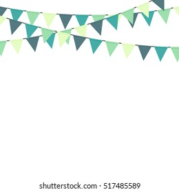 Bunting party celebration vector