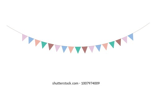 Bunting triangle strip - Spring colours