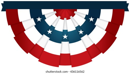 Bunting USA Flag for July 4th or any American celebration