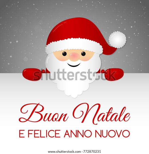 Merry Christmas In Italian.Buon Natale Merry Christmas Italian Christmas Stock Vector