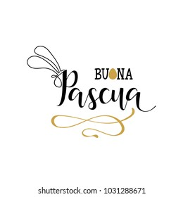 Buona Pasqua. Lettering. Translation from Italian: Happy Easter. quote to design greeting card, poster, banner, printable wall art, t-shirt and other, vector illustration.