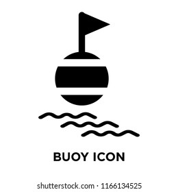 Buoy icon vector isolated on white background, Buoy transparent sign