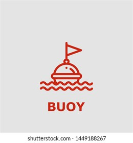 Buoy symbol. Outline buoy icon. Buoy vector illustration for graphic art.
