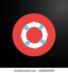 buoy, web icon or user interface button, vector.
