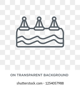 Buoys icon. Trendy flat vector Buoys icon on transparent background from Nautical collection. High quality filled Buoys symbol use for web and mobile