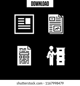 bureaucracy icon. 4 bureaucracy vector set. administration job with archive and file icons for web and design about bureaucracy theme