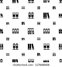bureaucracy icons pattern seamless white background. Included editable filled binder icons. bureaucracy icons for web and mobile.