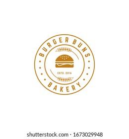 burger bakery logo design vector