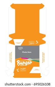Burger Box Packaging Template Design