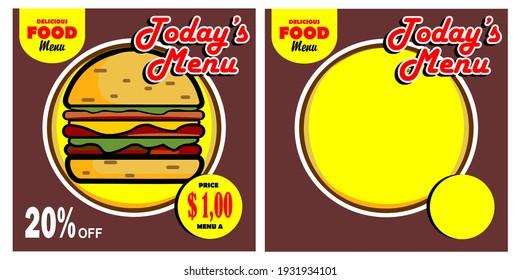burger, circle, popular, vector food promotion background