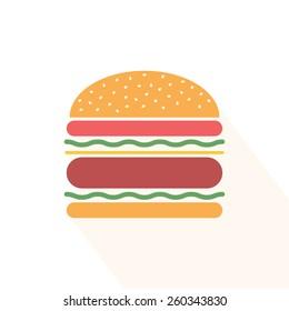 Burger icon. Hamburger. Vector illustration