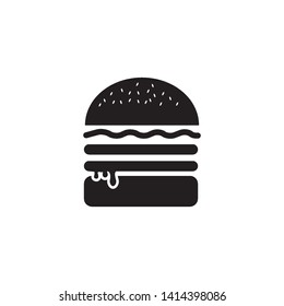 burger icon logo vector design template