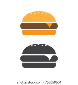 Burger icon vector. Fast food vector illustration