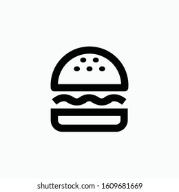 burger icon vector sign symbol isolated