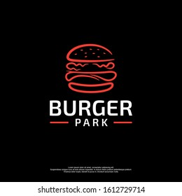 Burger logo with black background